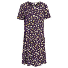 Buy Fat Face Simone Teatime Floral Dress, Aubergine Online at johnlewis.com