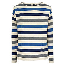 Buy Fat Face Scarlet Striped Top, Multi Online at johnlewis.com