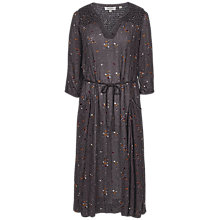 Buy Fat Face Lorna Daisy Dot Midi Dress, Grey Online at johnlewis.com