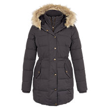 Buy Fat Face Cumbria Long Puffer Jacket, Grey Online at johnlewis.com