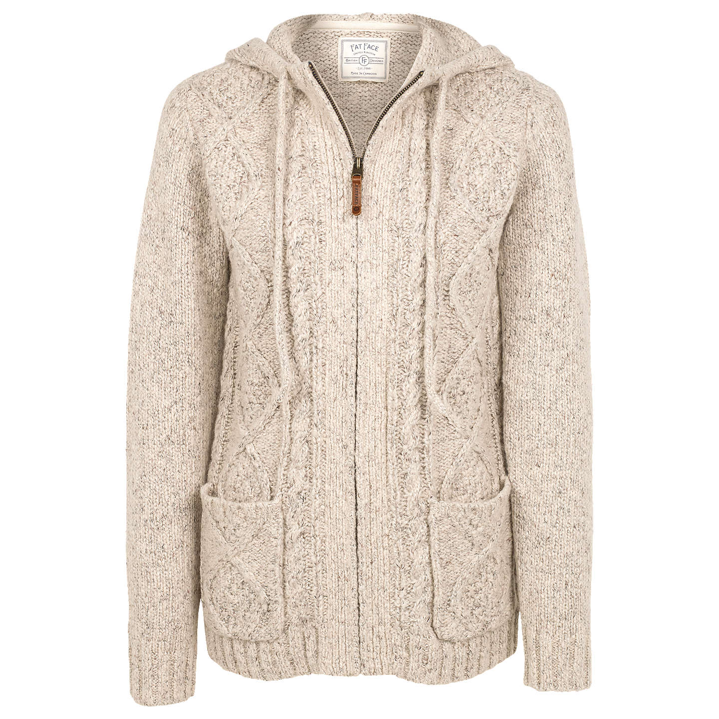 BuyFat Face Alicia Knit Hoodie, Ivory, 12 Online at johnlewis.com