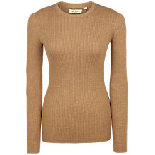 Buy Fat Face Sofia Crew Neck Jumper, Desert Online at johnlewis.com