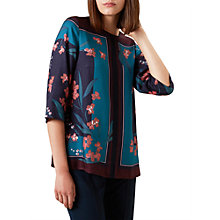 Buy Hobbs Flora Floral Blouse, Multi Online at johnlewis.com
