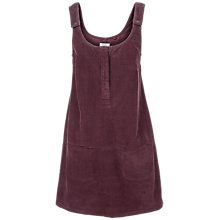 Buy Fat Face Bianca Cotton Cord Dress, Elderberry Online at johnlewis.com