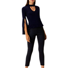 Buy Coast Francesca Textured Trousers, Navy Online at johnlewis.com