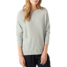 Buy Jigsaw Button Back Dropped Hem Jumper, Water Mint Online at johnlewis.com