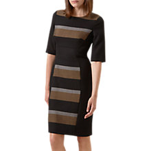 Buy Hobbs Stripe Nora Dress, Black Online at johnlewis.com