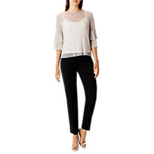 Buy Coast Marlow Mesh Top, Silver Online at johnlewis.com