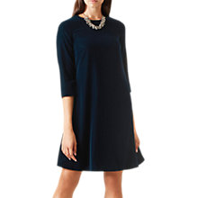 Buy Hobbs Velvet Agnes Dress, Teal Online at johnlewis.com