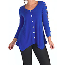 Buy Chesca Criss Cross Tunic Top, Sapphire Online at johnlewis.com