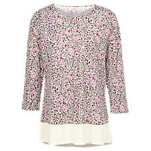 Buy Fat Face Maya Floral Top, White Online at johnlewis.com