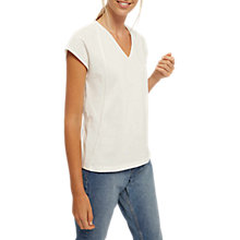Buy Jaeger Block Jersey Top, Ivory Online at johnlewis.com