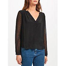 Buy Pyrus Lola Silk Blouse, Black Online at johnlewis.com