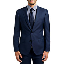 Buy HUGO by Hugo Boss C-Huge1 Wool Fil a Fil Slim Fit Suit Jacket, Medium Blue Online at johnlewis.com