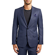 Buy HUGO by Hugo Boss C-Huge Virgin Wool Slim Fit Suit Jacket, Dark Blue Online at johnlewis.com