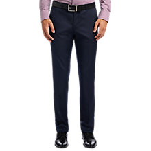Buy HUGO by Hugo Boss C-Shark1 Wool Micro Pattern Regular Fit Suit Trousers, Navy Online at johnlewis.com