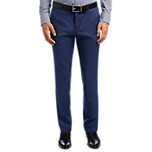 Buy HUGO by Hugo Boss C-Genesis Wool Fil a Fil Slim Fit Trousers, Medium Blue Online at johnlewis.com