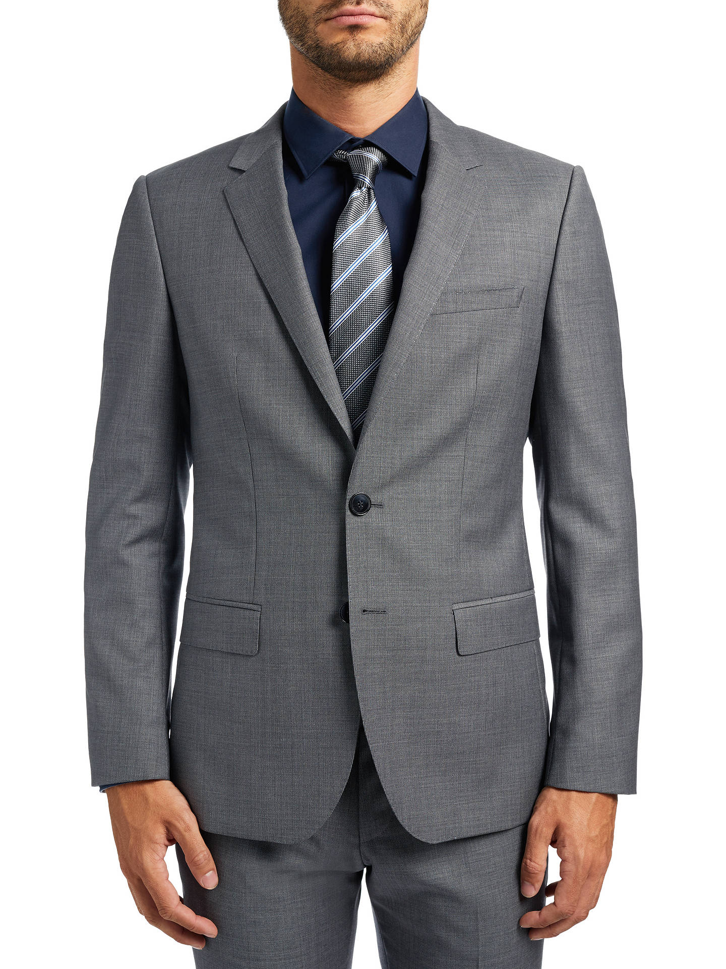 798a5ffa0 HUGO by Hugo Boss C-Huge Slim Fit Suit Jacket, Open Grey at John ...