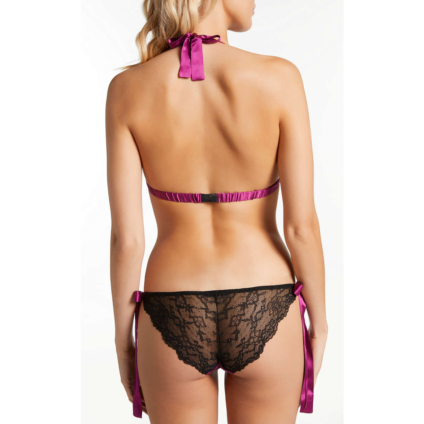 BuyDiane Houston Vivien Silk Lace Soft Bra, Black/Cassis, S Online at johnlewis.com