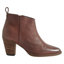 Buy Jigsaw Anneli Block Heeled Ankle Boots, Red Wine Online at johnlewis.com