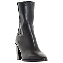 Buy Dune Black Padock Pointed Toe Ankle Sock Boots, Black Online at johnlewis.com