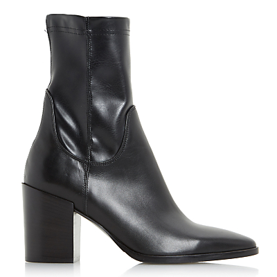 Dune Black Padock Pointed Toe Ankle Sock Boots