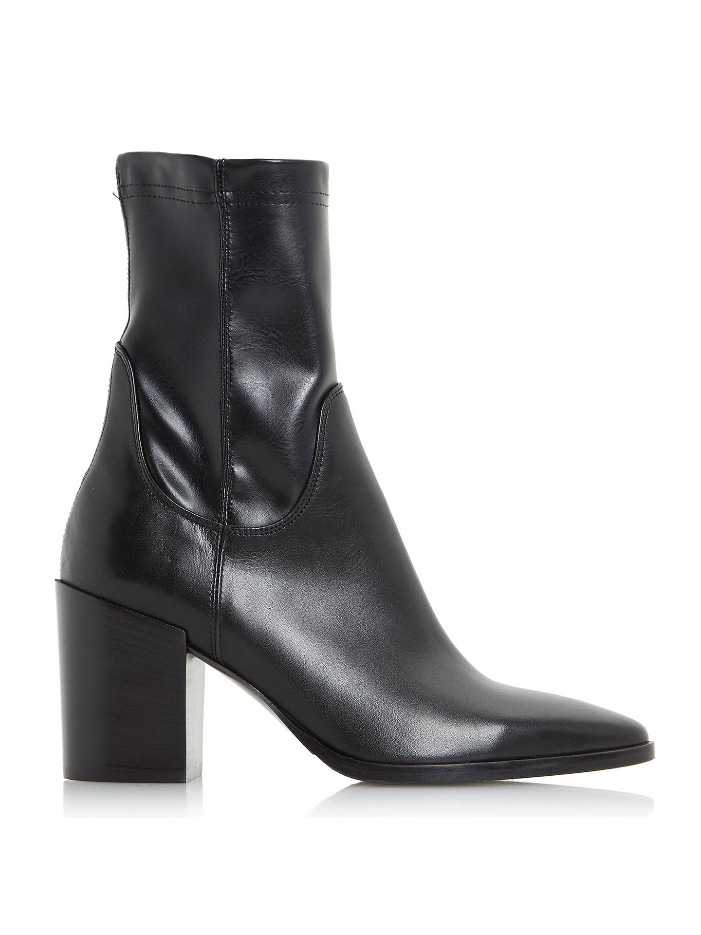 582941b0a12 Dune Black Padock Pointed Toe Ankle Sock Boots at John Lewis & Partners