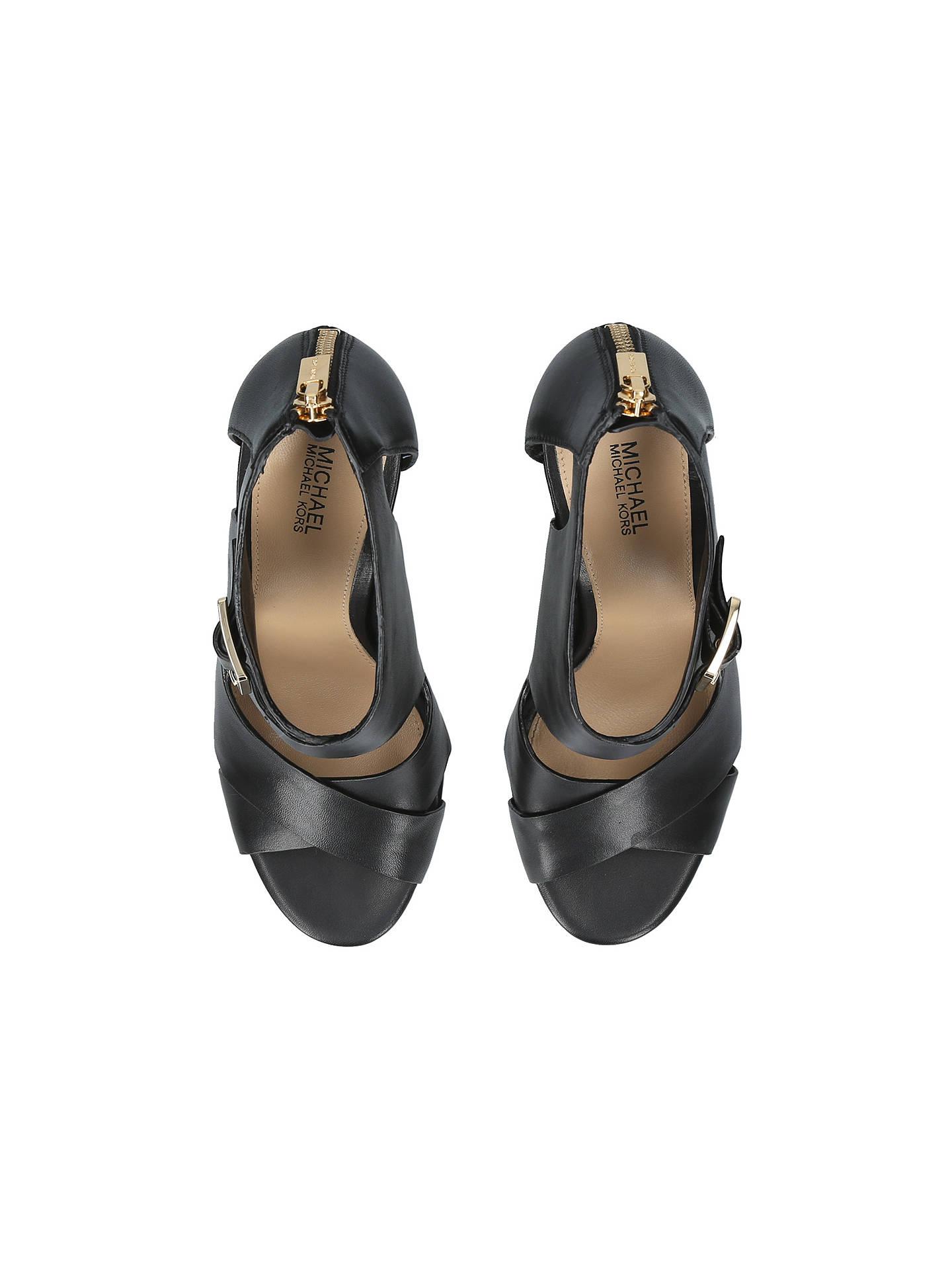 25a62e0fb8bf MICHAEL Michael Kors Kimber Stiletto Heeled Sandals at John Lewis ...
