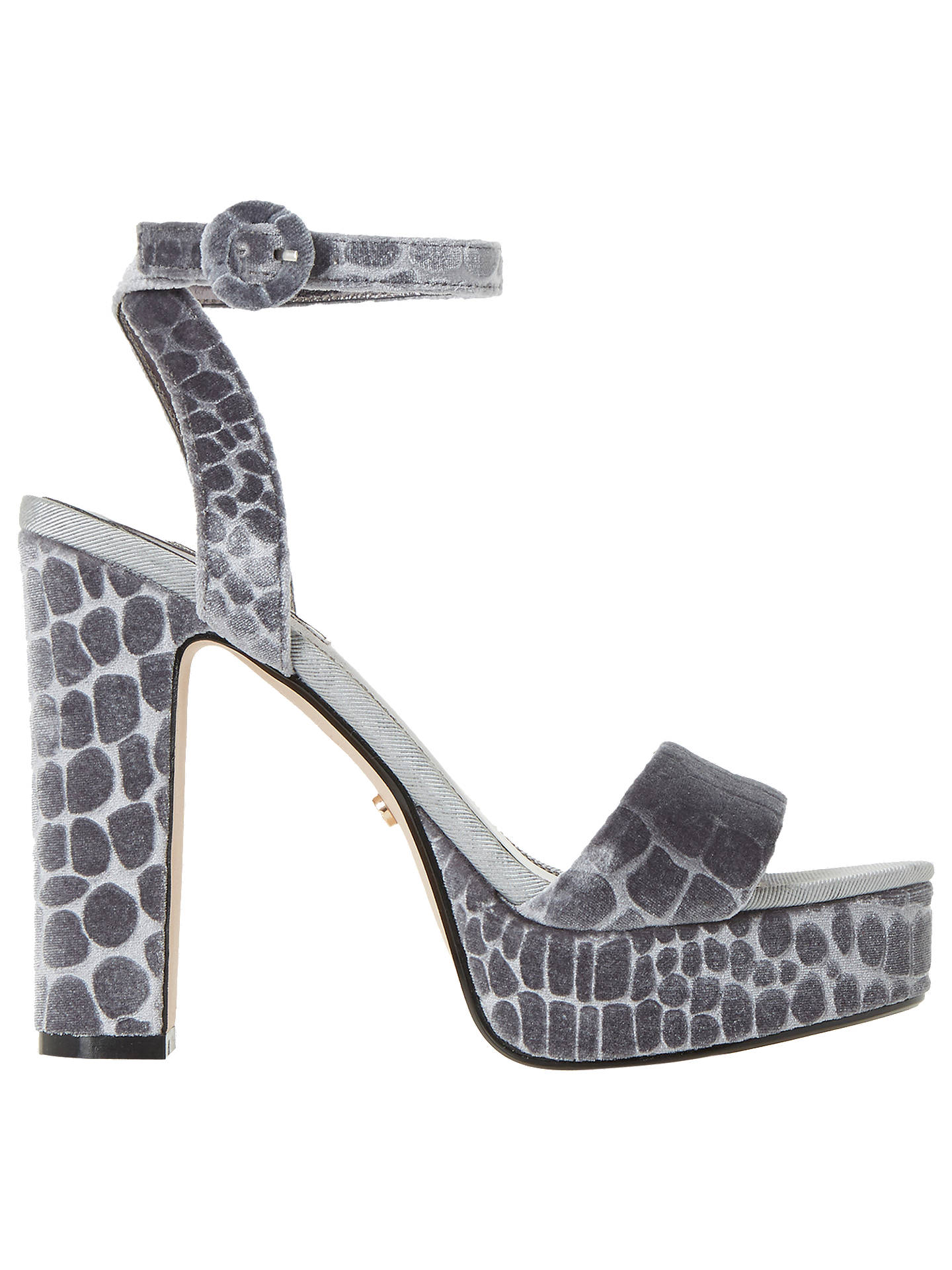b800b538b6b24 Buy Dune Morisey Platform Block Heeled Sandals, Grey, 3 Online at  johnlewis.com ...