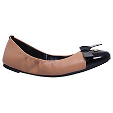 Buy MICHAEL Michael Kors Mellie Bow Pumps, Nude/Black Online at johnlewis.com
