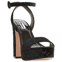 Buy Dune Morisey Block Heeled Sandals, Black Online at johnlewis.com