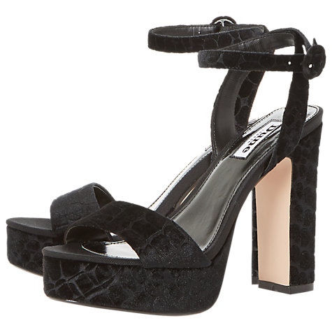 Buy Dune Morisey Platform Block Heeled Sandals, Black Online at johnlewis.com