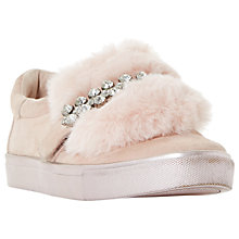 Buy Dune Endless Faux Fur Embellished Trainers Online at johnlewis.com