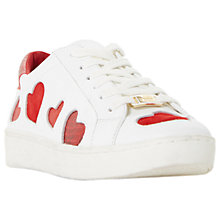 Buy Dune Everlasting Lace Up Heart Trainers, White Online at johnlewis.com