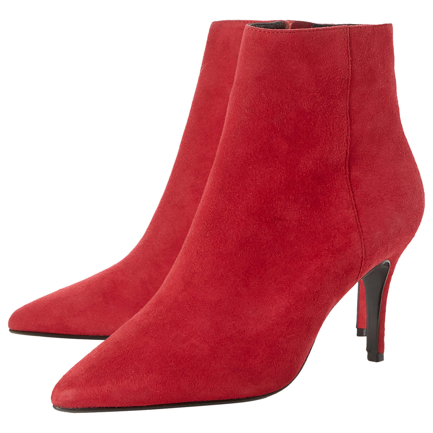 BuyDune Osha Pointed Toe Ankle Boots, Red Suede, 5 Online at johnlewis.com