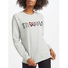 Buy Uzma Bozai Trouble Sweatshirt, Grey Marl Online at johnlewis.com