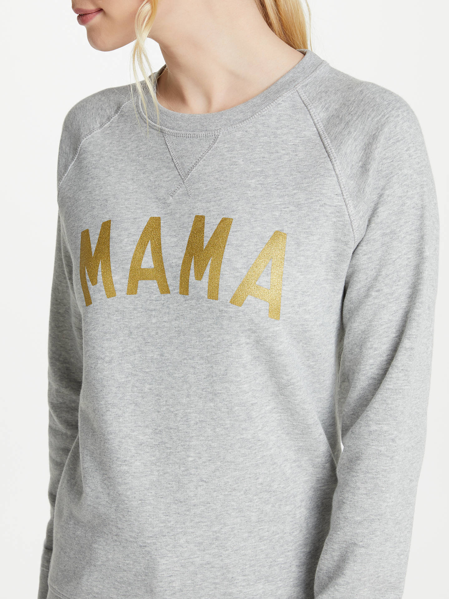 BuySelfish Mother Mama Crew Neck Sweatshirt, Grey/Gold, S Online at johnlewis.com