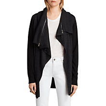 Buy AllSaints Dahlia Wool Cardigan, Cinder Black Marl Online at johnlewis.com