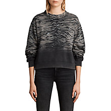 Buy AllSaints Tyger Leia Cropped Jumper, Vintage Black Online at johnlewis.com