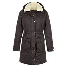Buy Fat Face Cheshire Jacket, Chocolate/Cream Online at johnlewis.com