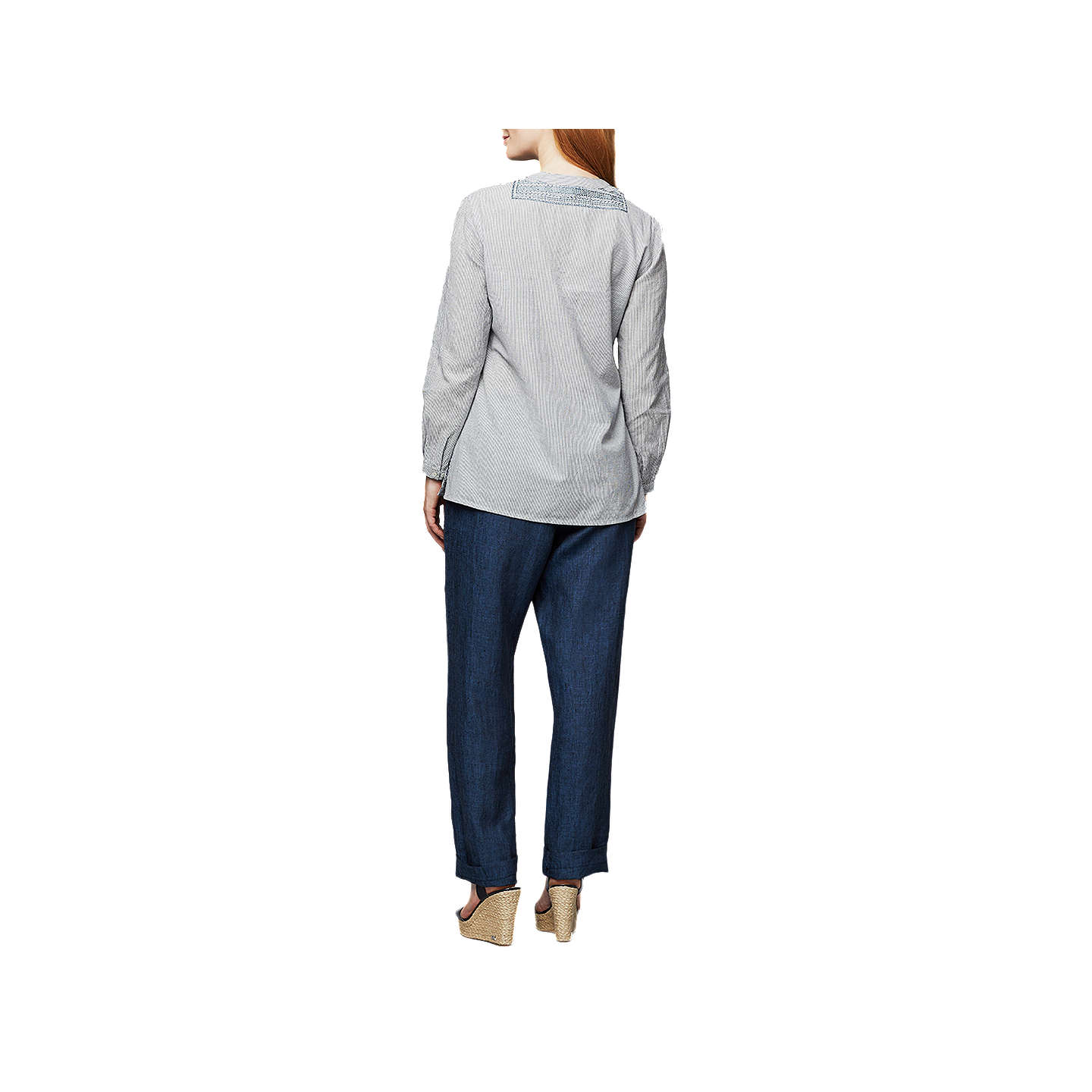 BuyEast Linen Drawstring Trousers, Indigo, 10 Online at johnlewis.com