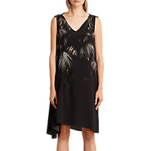 Buy AllSaints Neluwa Silk Dress, Black Online at johnlewis.com