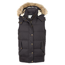 Buy Fat Face Heritage Gilet, Charcoal Online at johnlewis.com