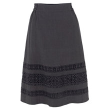 Buy Fat Face Monica Lace Skirt, Phantom Online at johnlewis.com