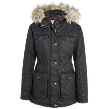 Buy Fat Face Poole Parka Jacket, Phantom Online at johnlewis.com