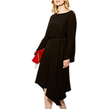 Buy Karen Millen Button Midi Dress, Black Online at johnlewis.com
