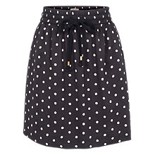Buy Fat Face Dana Printed Polka Dot Skirt, Phantom Online at johnlewis.com