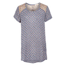 Buy Fat Face Natalie Retro Tile Longline Top, Indigo Online at johnlewis.com