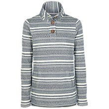 Buy Fat Face Lowick Pattern Half Neck Jumper, Blue Mist/Multi Online at johnlewis.com