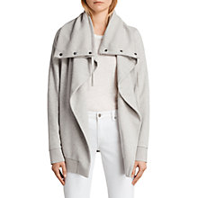 Buy AllSaints Brooke Jersey Sweatshirt, Pale Grey Marl Online at johnlewis.com